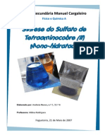 Relatório - Sintese Do Tetraaminicobre Monohidratado