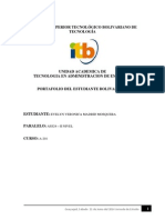 Portafolio Instituto Superior Tecnológico Bolivariano de Tecnología