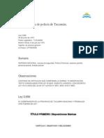 Ley Organica de La Policia de Tucuman