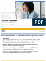 SAP HANA Technical Enblement