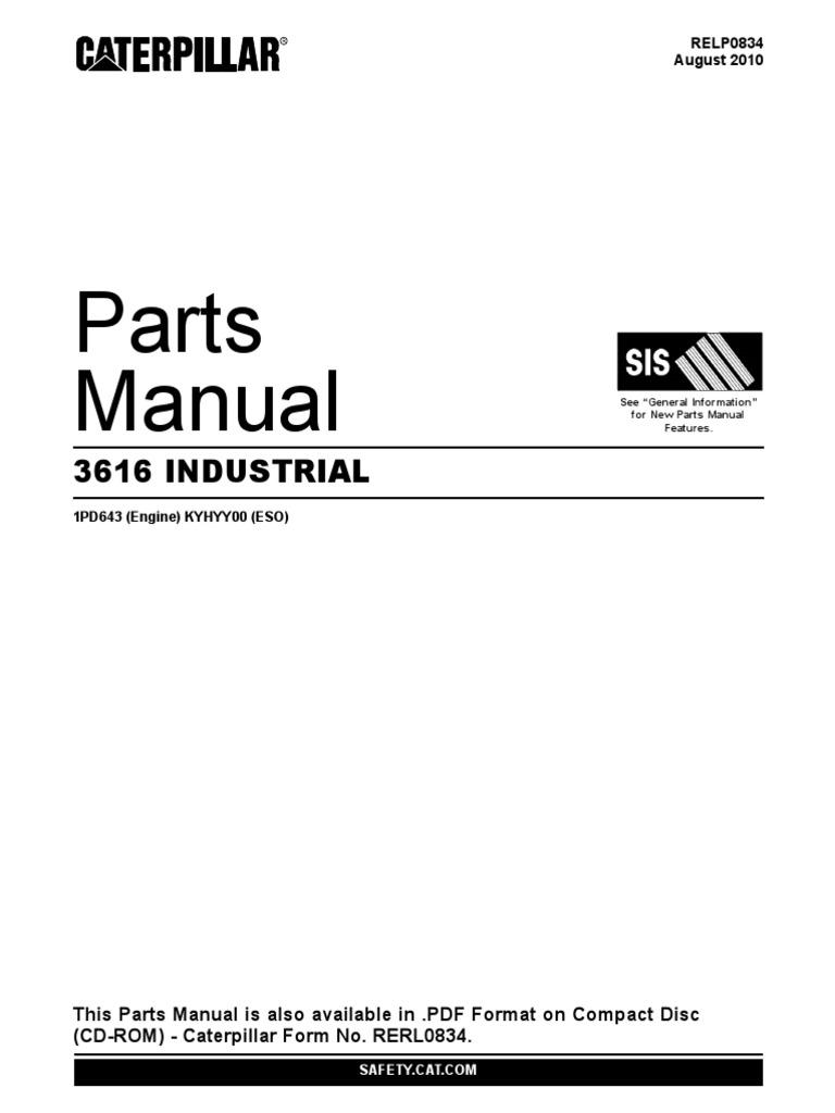 cat 3616 parts manual pdf rh es scribd com Caterpillar Engine Parts Lookup Caterpillar Parts Book