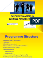 Executive Masters in Management