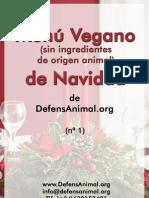 Menu Vegano Navidad DefensAnimal.org