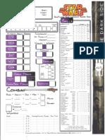 D20 - Star Wars - Darkside Character Sheet