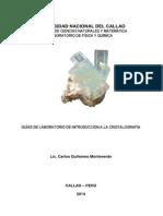 Guías de Laboratorio de Introducción a La Cristalografia (Nueva)