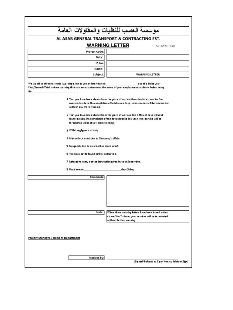 Warning letter format altavistaventures Images