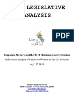 Corporate Welfare 2014 Legislative Analysis