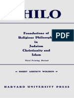 Harry Austryn Wolfson Philo Foundations of Religious Philosophy in Judaism, Christianity, And Islam Volumes 1 and 2 1962
