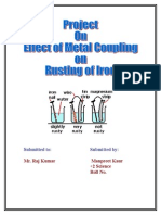 Ruting of Iron With Coupling Reaction