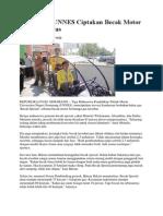 Mahasiswa UNNES Ciptakan Becak Motor Bertenaga Gas