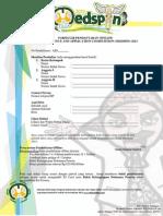 Formulir Pendaftaran Offline 2013