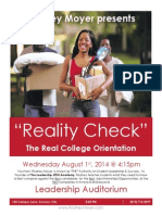 flyer reality check college orientation