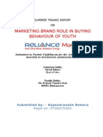 Marketing Brand Role in Buying Behaviour of Youth
