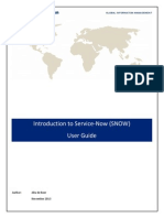 Introduction to Service Now User Guide