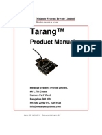 Tarang - Product Manual 2.2