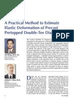 A Practical Method to Estimate Diaphragm Deformation of Double Tee Diaphragm Zhengoliva Pca 419