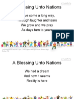 A Blessing Unto Nations