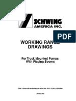 SCHWING Concrete Pump Working Range Drawings