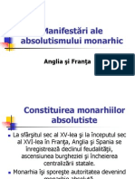 Manifestari Ale Absolutismului Monarhic
