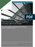 METODO ESTATICO, METODO PLASTICO,ESTADOS LIMITES DE DISEÑO