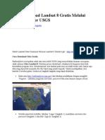 Cara Download Citra Landsat8
