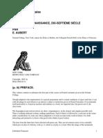 Littérature Française (Première Année)Moyen-Âge, Renaissance, Dix-Septième Siècle by Aubert, E.