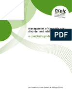 Management of Cannabis Use Disorder and Related Issues a Clinicians Guide