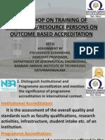 Workshop on Training of Evaluators