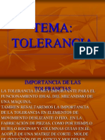 Tolerancia s