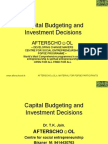 Capital Budgeting and Investment Decisions  in Financial Management 11 Nov.