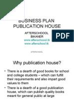 BUSINESS PLAN publication house