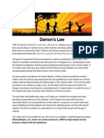Damon's Law for Legislators