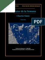 Charles Simic Selección de Poemas