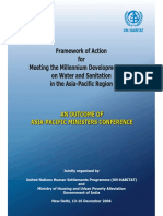 Framework of Action for Meeting the Millennium Development Goal on Water and Sanitation in the Asia-Pacific Region