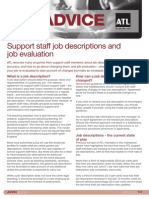 ADV33 Support Staff Job Descriptions and Job Evaluation - May 2012