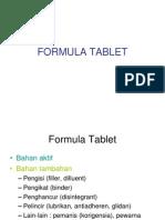 Solid 3 (Formula Tablet,Pengisi-Pengikat-Penghancur)
