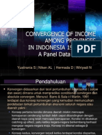 CONVERGENCE OF INCOME AMONG PROVINCES