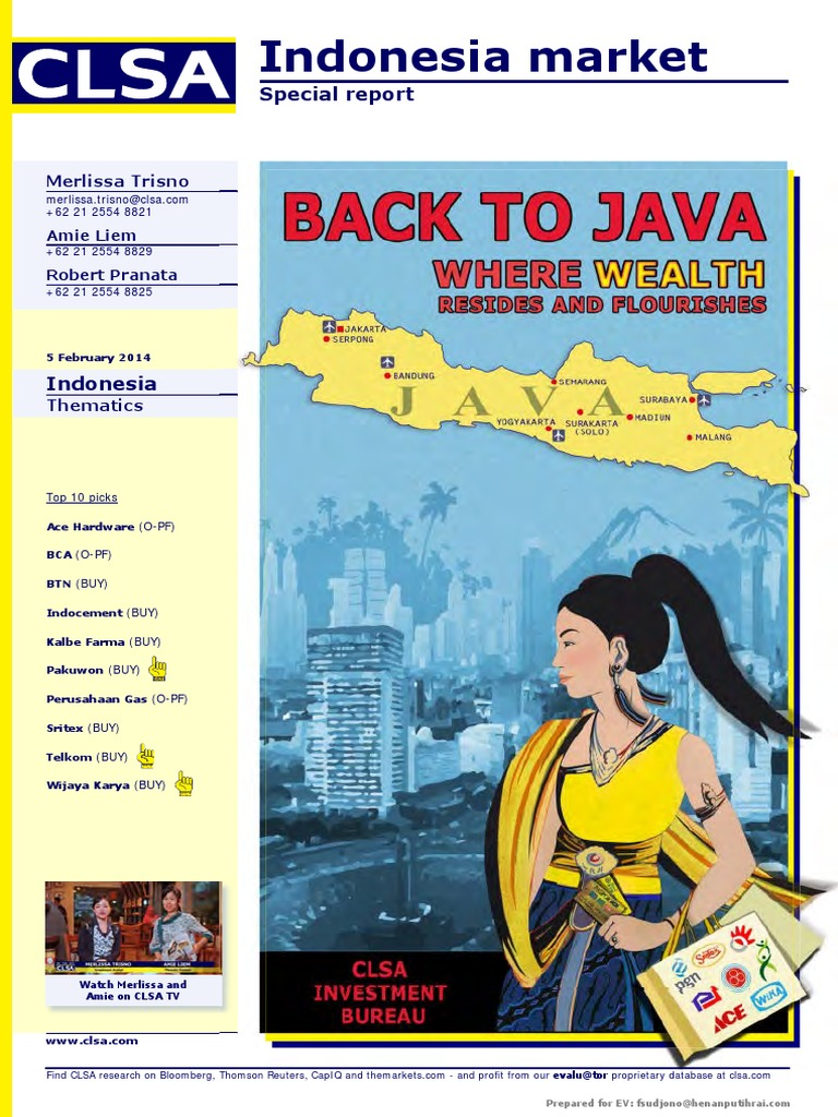 Indonesia Market (Back to Java Where Wealth Resides and Flourishes)  20140205  99268c055c