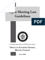 Open Meeting Law Guidelines