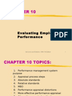 ch10 EVALUATING EMPLOYEE PERF