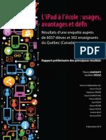 iPad Jeunes Québec