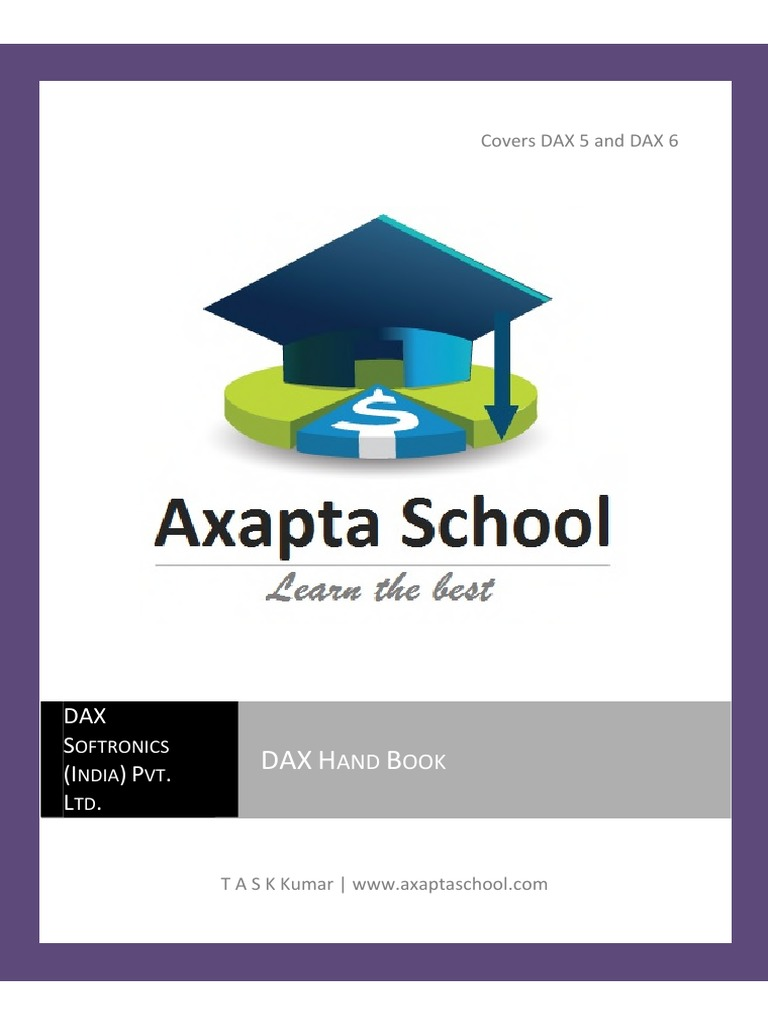 DAX Hand Book | Enterprise Resource Planning | Microsoft Visual Studio