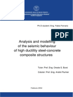 Analysis and Modelling of the Seismic Behaviour of Hight Ductility Steel-concrete Composite Structures