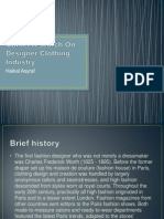 Market Research on Designer Clothing Industry