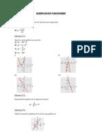 Ejercicios de funciones gráficas dominio y rango