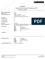 Strategic Supply Chain and Logistics Management 302 Semester 2 2014 Bentley Campus INT