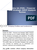 Fluidra SA - Financial and Strategic SWOT Analysis Review