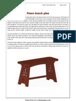 Piano Bench Plan