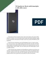 BlackBerry Z30 Hands-On Rock Solid Smartphone, But Others Still Offer More