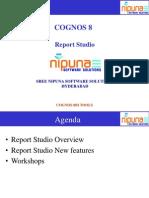 Cognos 8 - Report Studio
